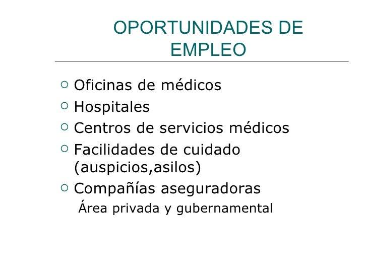 Procedimientos De La Oficina Medica