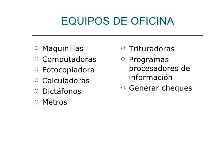 Procedimientos de la oficina medica for Equipo de oficina