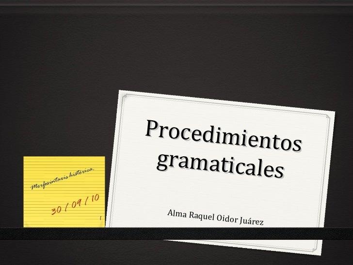 Procedimie                                                 ntos                                       gramaticale orfosi  ...