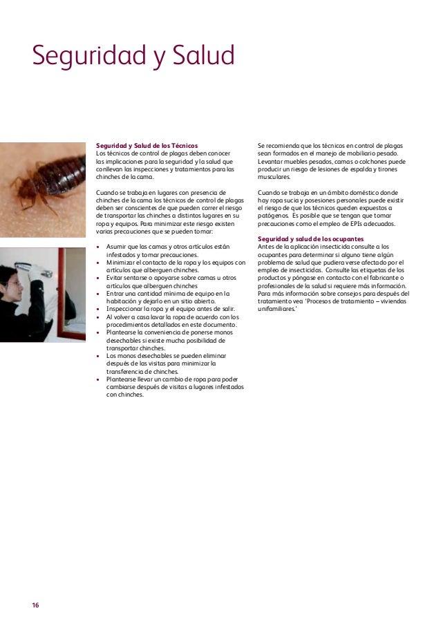Manual para el control de plagas. El Chinche.