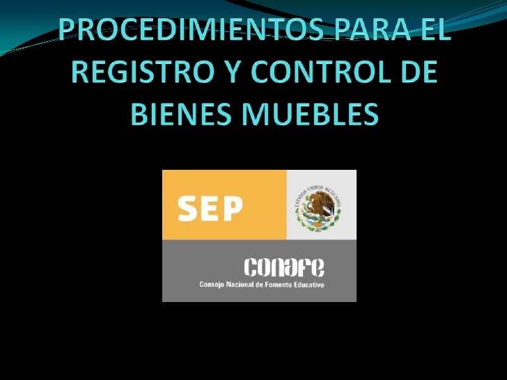 Registro y control de bienes for Registro de bienes muebles sevilla