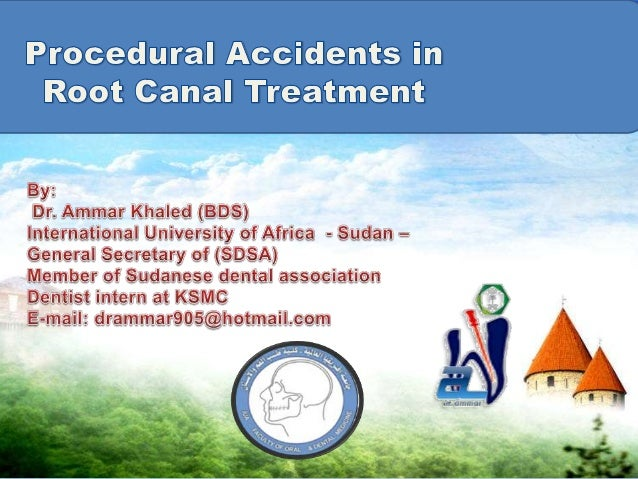 When an accident occurs during root canal treatment, thepatient should be informed about:(1) the incident.(2) procedures n...