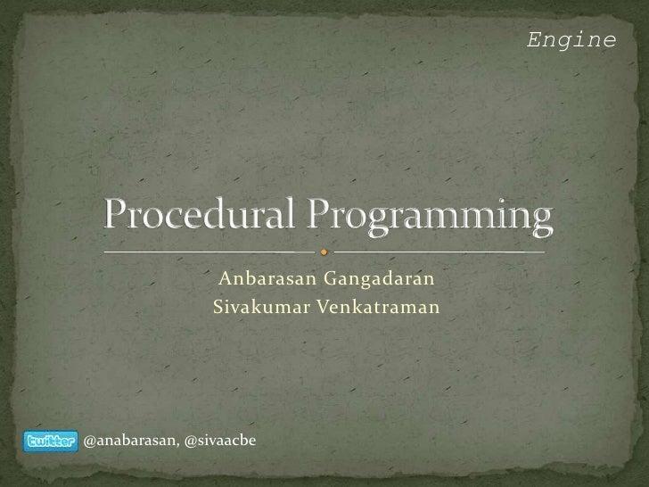 Engine                      Anbarasan Gangadaran                 Sivakumar Venkatraman     @anabarasan, @sivaacbe