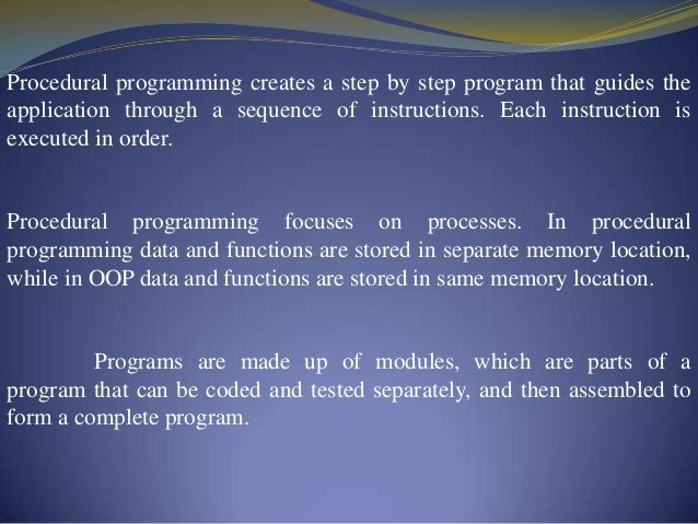 C the basic concepts.