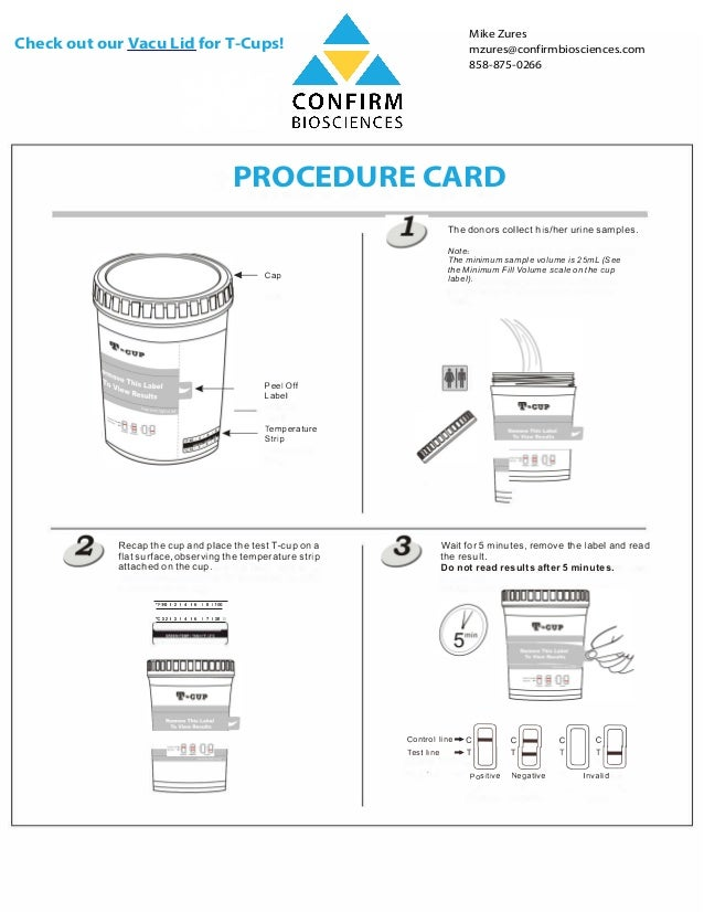 Instructions On How To Use A T Cup Urine Drug Test Cup