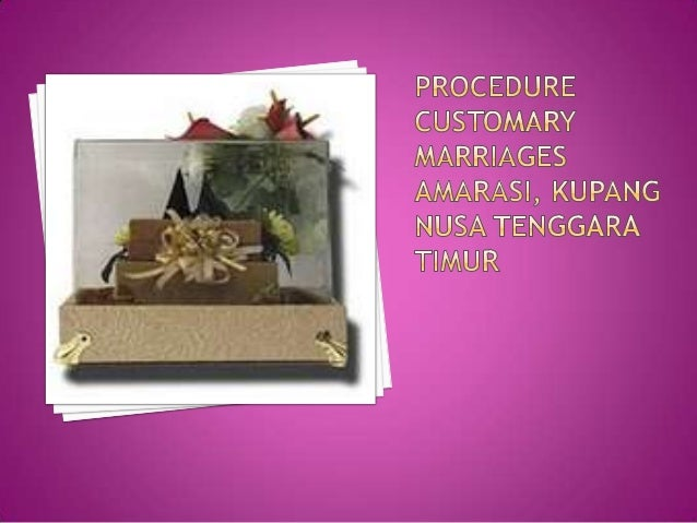  The series of public marriage ceremony Amarasi Kupang, Nusa Tenggara Timur, begins with an introductory event between tw...