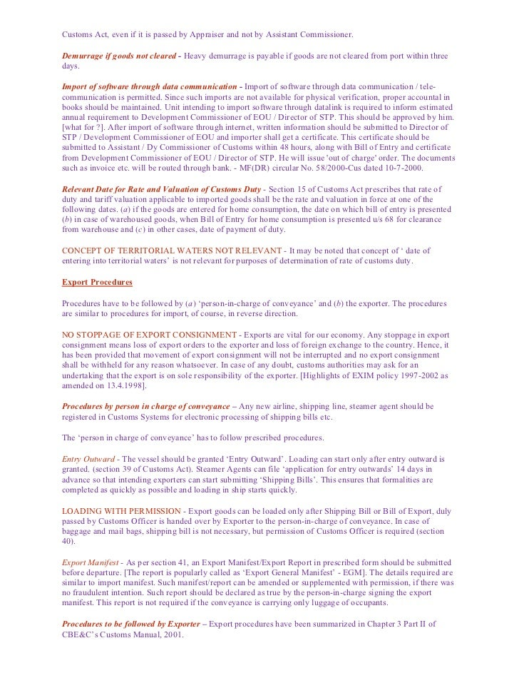 Procedure for import and export 7 publicscrutiny Choice Image