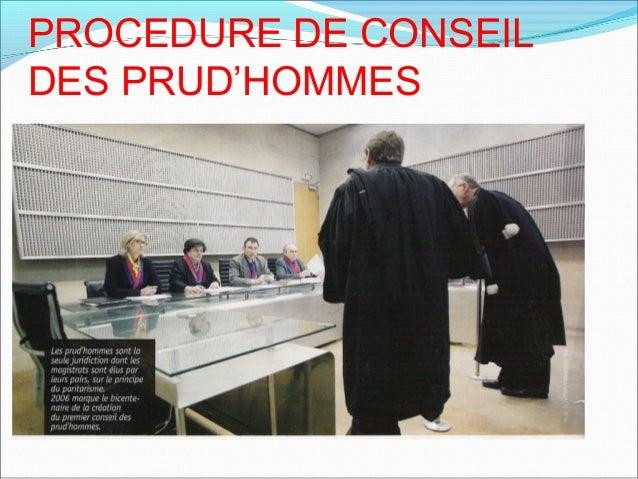 PROCEDURE DE CONSEIL DES PRUD'HOMMES