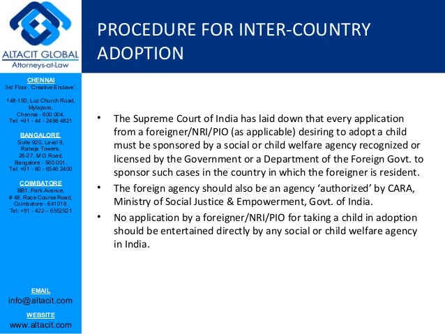 Procedures For Legal Adoption Of Children In India A Study