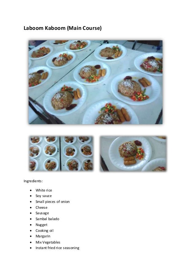 Cake Recipes With Pictures And Procedure : [English Task] Procedure Text: Original Appetizer, Main ...