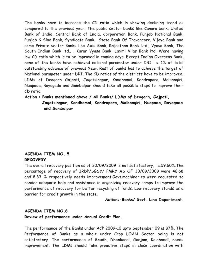 Proceeding of 119th slbc 17 11 2009