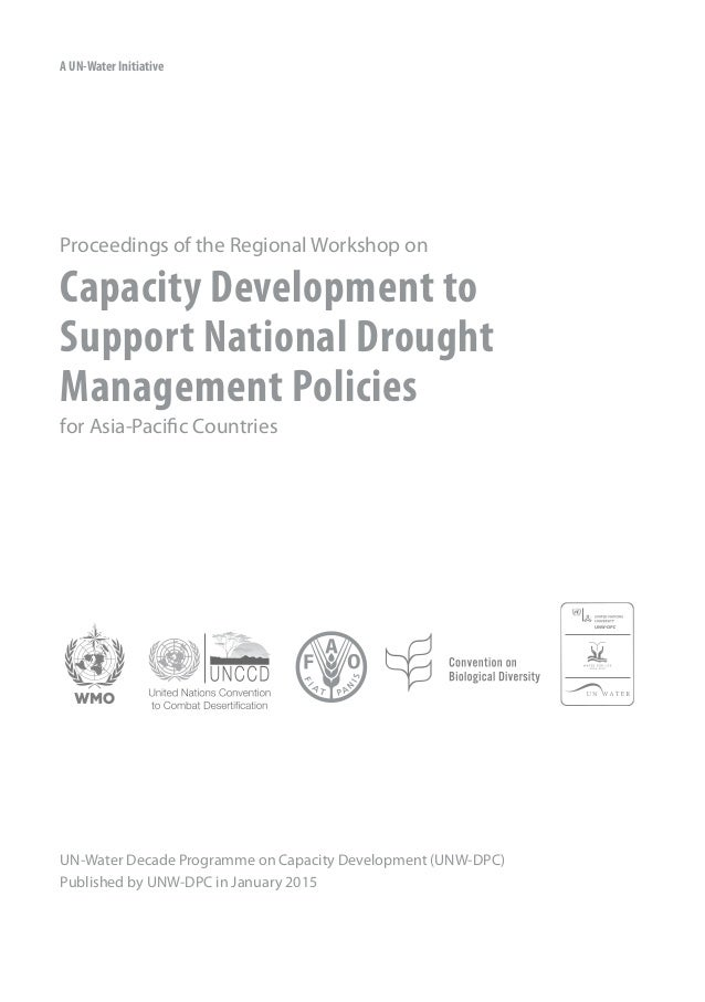 Capacity Development to Support National Drought Slide 2