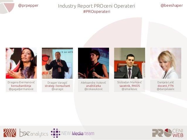 @beeshaper@prpepper Industry Report PROceni Operateri #PROoperateri Aleksandra Vuković analitičarka @cokavukovic Dragana Đ...