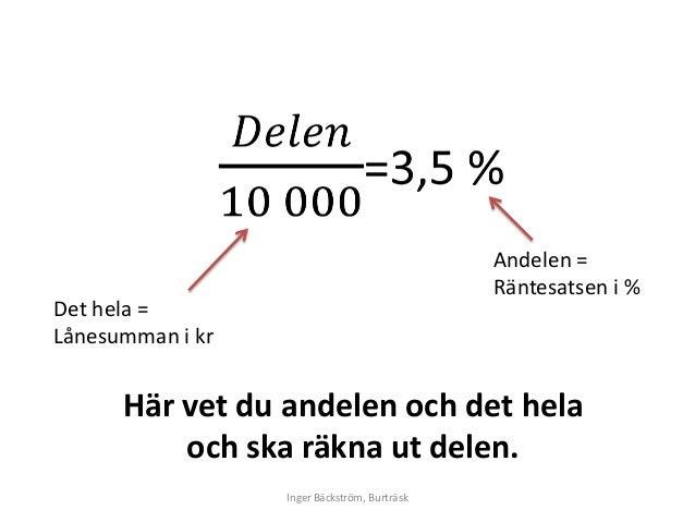 RÄKNA UT PROCENT RABATT