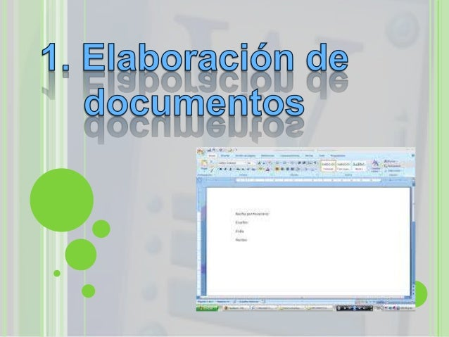 ELABORACIÓN DE UNDOCUMENTO NUEVO Y dar clic en nuevo para iniciar una hoja en blancoy comenzar el nuevo documento. Para ...