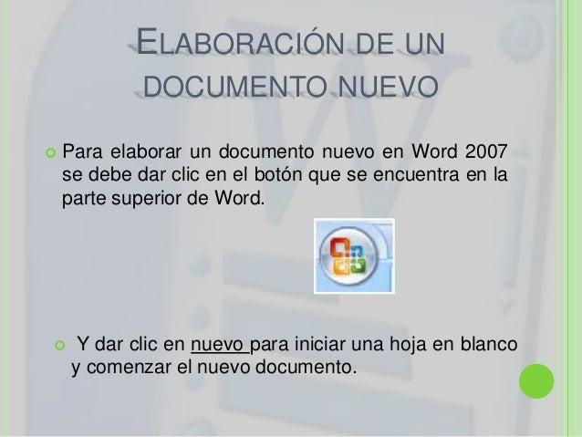  Algunos pasos a seguir para elaborar undocumentos son:1. Escribir el texto del documento.