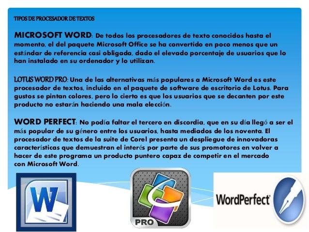 Procesadores de texto Slide 2