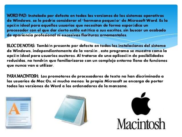 PROCESADORES DE TEXTO Slide 3