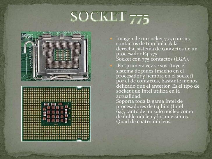 Tipos de socket y slots para procesadores