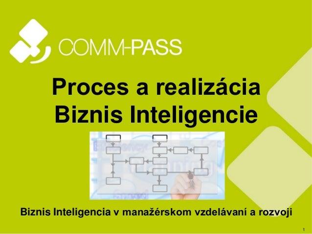 1 Proces a realizácia Biznis Inteligencie Biznis Inteligencia v manažérskom vzdelávaní a rozvoji