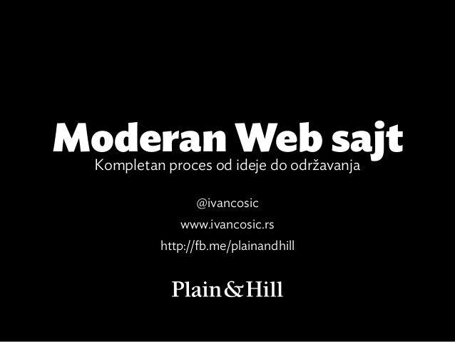 Moderan Web sajt Kompletan proces od ideje do održavanja                @ivancosic             www.ivancosic.rs          h...