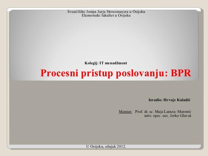 Sveučilište Josipa Jurja Strossmayera u Osijeku              Ekonomski fakultet u Osijeku                                 ...