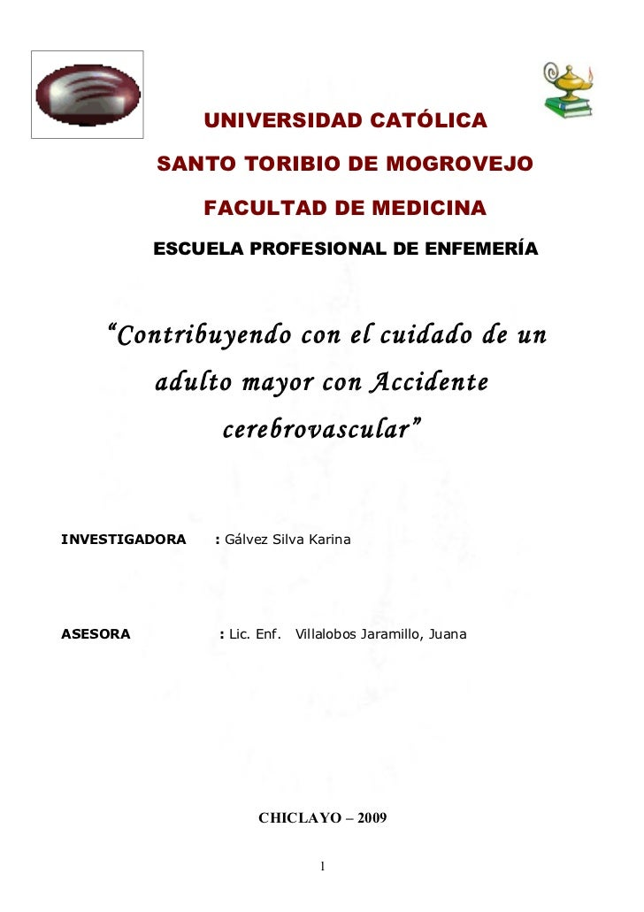 UNIVERSIDAD CATÓLICA            SANTO TORIBIO DE MOGROVEJO                  FACULTAD DE MEDICINA           ESCUELA PROFESI...