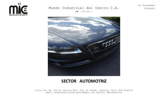 Su Proveedor           Mundo Industrial del Centro C.A.                                             Integral              ...