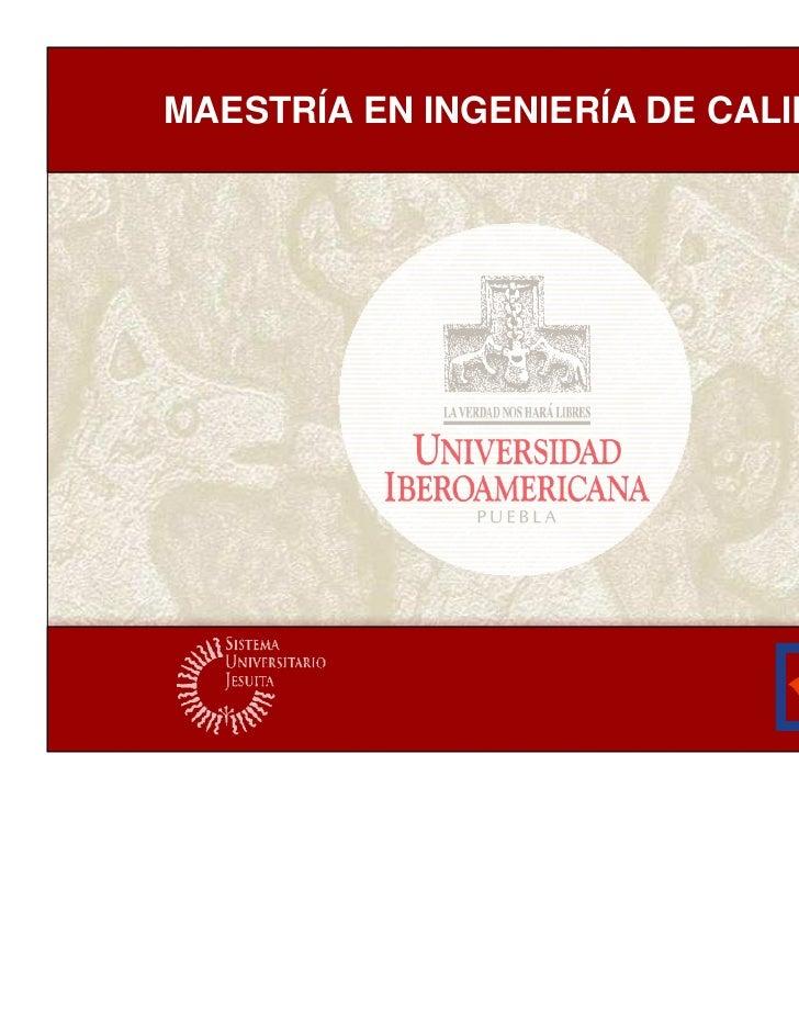 MAESTRÍA EN INGENIERÍA DE CALIDAD                       El proceso de certificación de SG1                                ...