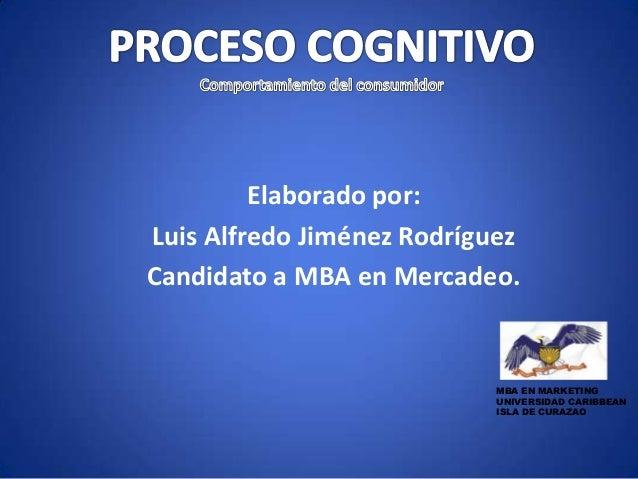 Elaborado por: Luis Alfredo Jiménez Rodríguez Candidato a MBA en Mercadeo. MBA EN MARKETING UNIVERSIDAD CARIBBEAN ISLA DE ...