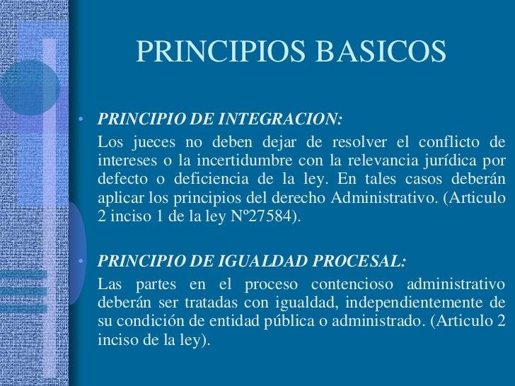 PRINCIPIO DE INTEGRACION:<br />Los jueces no deben dejar de resolver el conflicto de intereses o la incertidumbre con la ...