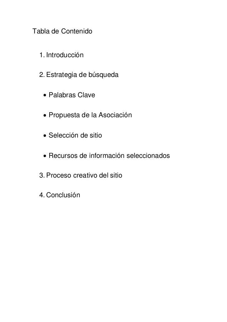 Tabla de Contenido<br /><ul><li>Introducción