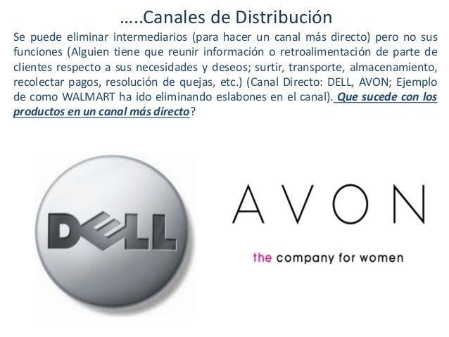 …..Canales de Distribución Se puede eliminar intermediarios (para hacer un canal más directo) pero no sus funciones (Algui...