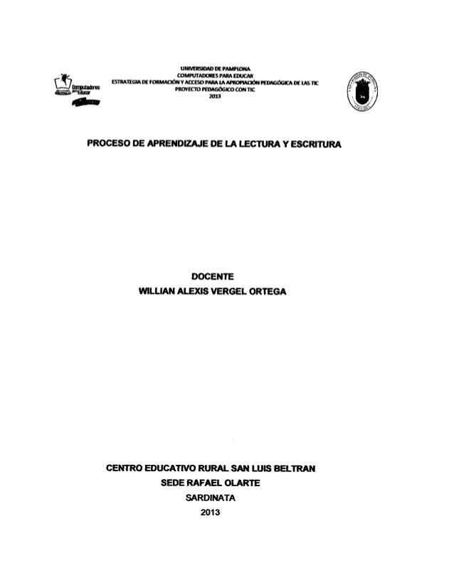 Proceso de aprendizaje de la lectura 44201