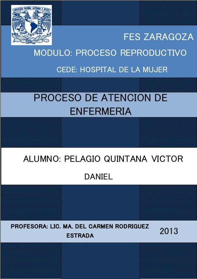 FES ZARAGOZA MODULO: PROCESO REPRODUCTIVO CEDE: HOSPITAL DE LA MUJER 2013 PROFESORA: LIC. MA. DEL CARMEN RODRIGUEZ ESTRADA...
