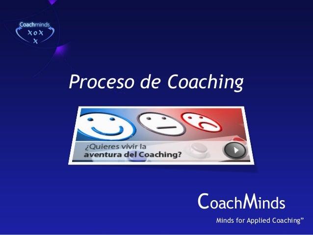"""Proceso de Coaching  CoachMinds Minds for Applied Coaching"""""""