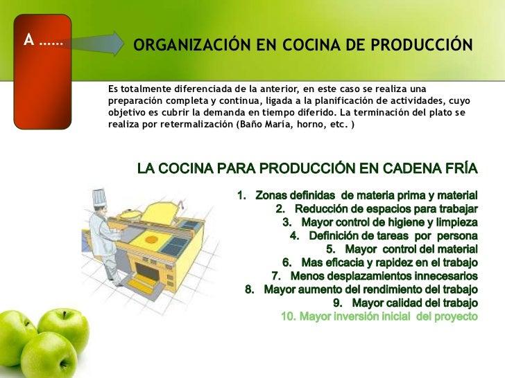 Proceso de cocina fria for Organizacion y limpieza del equipo de trabajo en la cocina