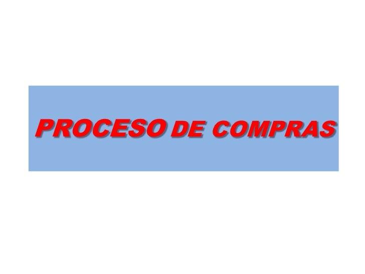 PROCESODE COMPRAS<br />