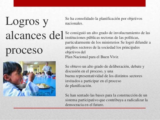 """Proceso de construcción del plan nacional para el buen vivir"""". jaqueline"""