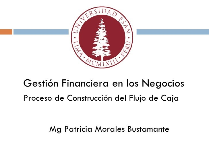 Proceso de Construcción del Flujo de Caja  Gestión Financiera en los Negocios CENTRUM-PUCP Mg Patricia Morales Bustamante
