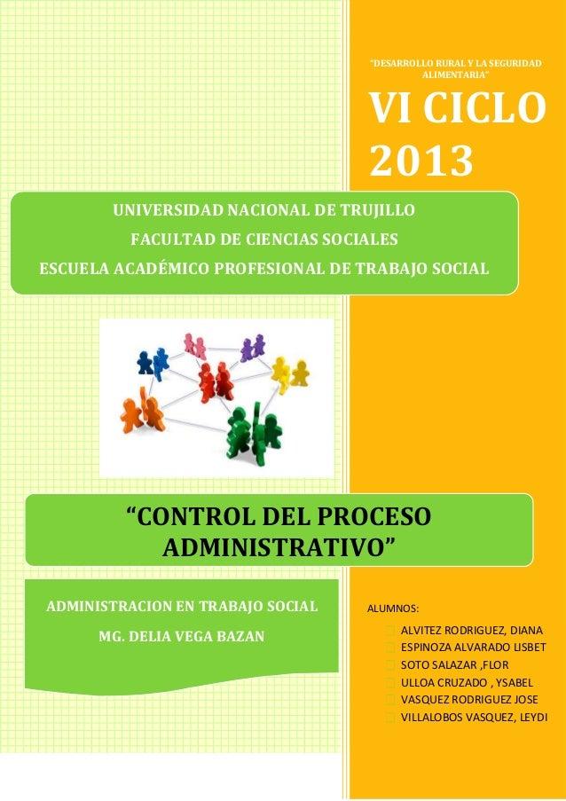"""""""DESARROLLO RURAL Y LA SEGURIDAD ALIMENTARIA""""  VI CICLO 2013 UNIVERSIDAD NACIONAL DE TRUJILLO FACULTAD DE CIENCIAS SOCIALE..."""