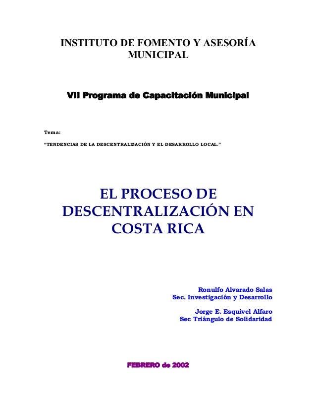 02e6dcb30 Proceso de Descentralización en Costa Rica