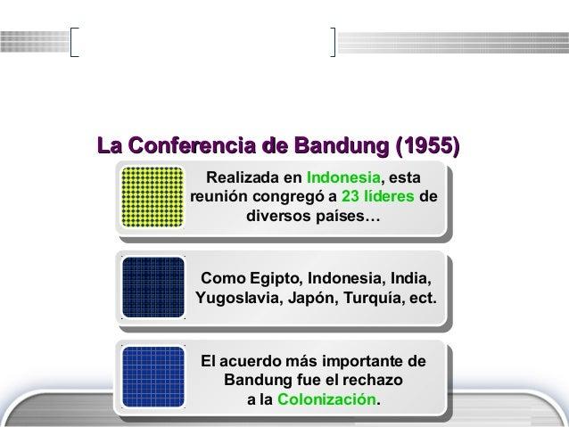LOGO Realizada en Indonesia, esta reunión congregó a 23 líderes de diversos países… Como Egipto, Indonesia, India, Yugosla...