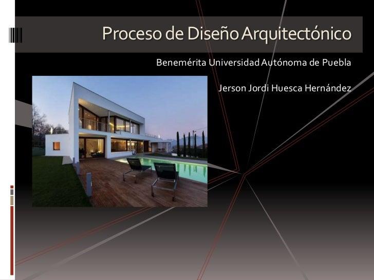 Proceso De Dise O Arquitect Nico