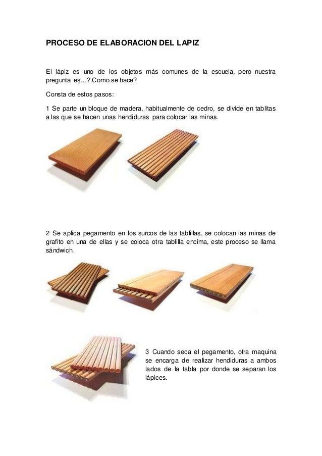 Proceso de elaboracion del lapiz - Como se elabora una silla de madera ...