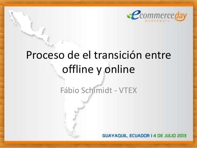 Proceso de el transición entre offline y online Fábio Schimidt - VTEX