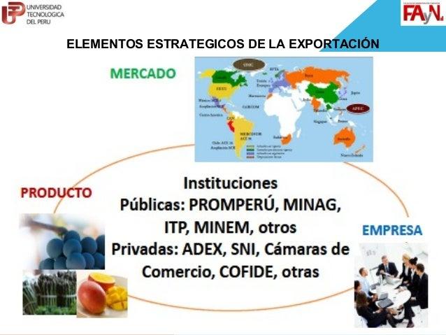 ELEMENTOS ESTRATEGICOS DE LA EXPORTACIÓN