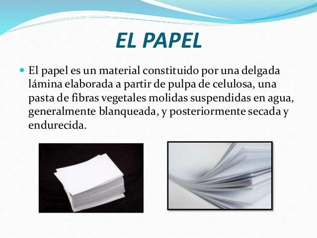 Proceso de fabricación del papel Slide 2