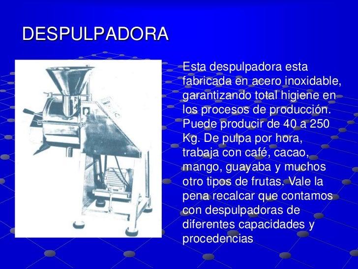 Proceso de frutas y m quinas para elaboraci n for Maquinaria y utensilios para la produccion culinaria