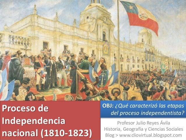 Proceso de Independencia nacional (1810-1823) Profesor Julio Reyes Ávila Historia, Geografía y Ciencias Sociales Blog > ww...